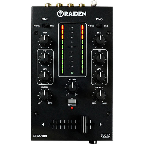 Raiden RPM-100 Portable 2-Channel DJ Mixer