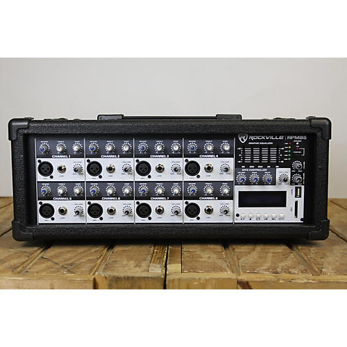 used rockville rpm85 powered mixer guitar center. Black Bedroom Furniture Sets. Home Design Ideas