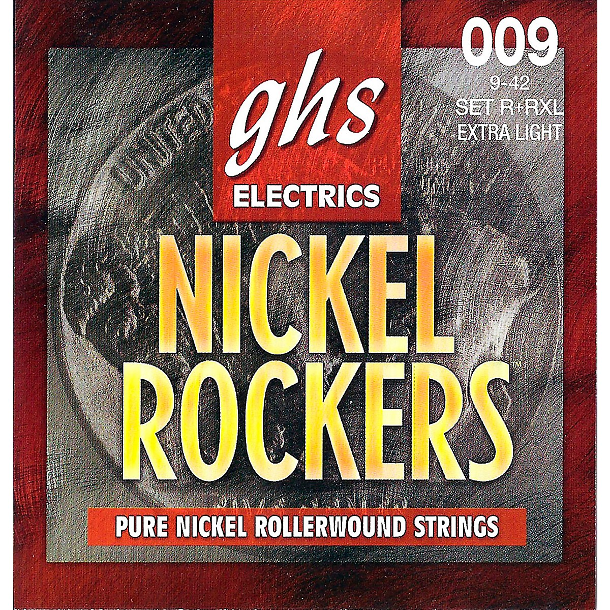 GHS R+RXL Nickel Rockers Roundwound Extra Light Electric Guitar Strings