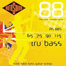 Rotosound RS88S Trubass Black Nylon Flatwound Standard Gauge Short Scale Bass Strings