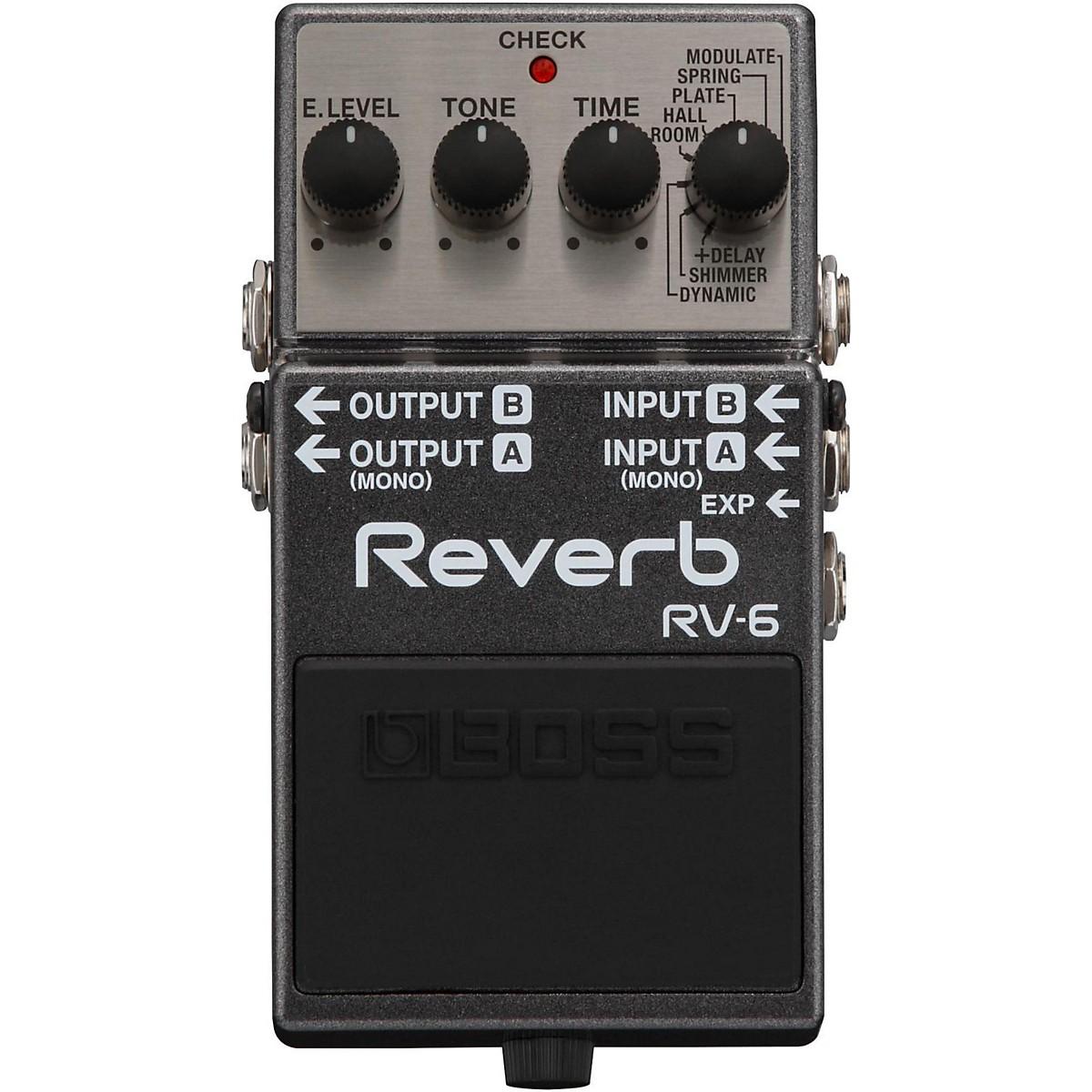 Boss RV-6 Digital Delay/Reverb Guitar Effects Pedal
