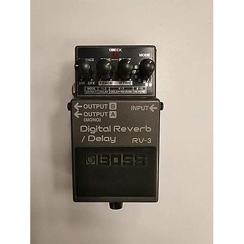 used boss rv3 digital reverb delay effect pedal guitar center. Black Bedroom Furniture Sets. Home Design Ideas