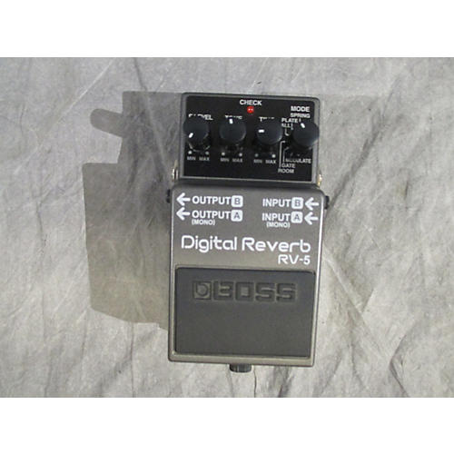 used boss rv5 digital reverb effect pedal guitar center. Black Bedroom Furniture Sets. Home Design Ideas