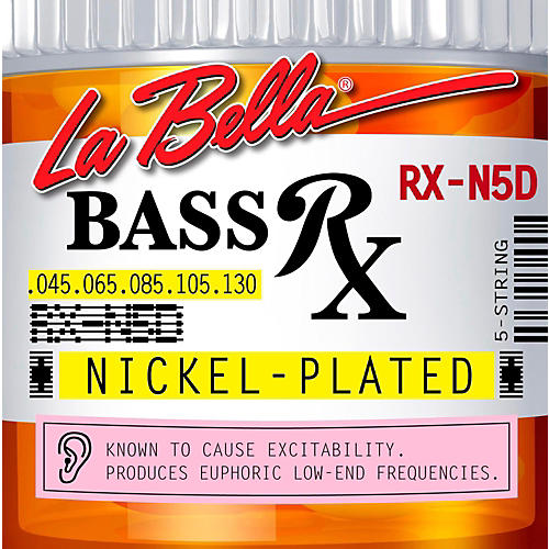 LaBella RX-N4D Rx Nickel 5-String Electric Bass Strings