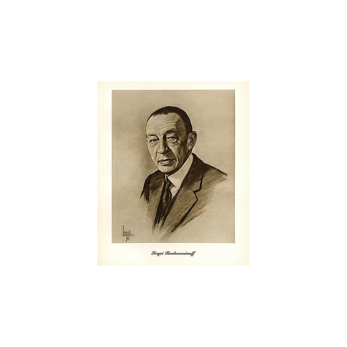 Music Sales Rachmaninov (Lupas Small Portrait Poster) Music Sales America Series