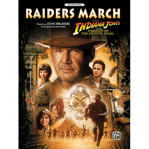 Alfred Raiders March (from Indiana Jones and the Kingdom of the Crystal Skull) Big Note Piano