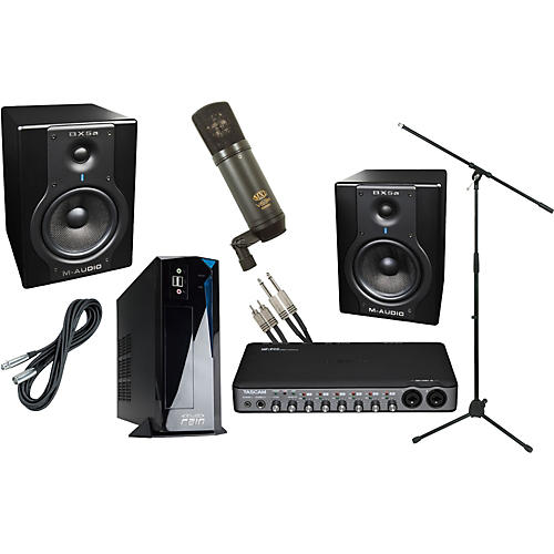 Rain Computers RainPak Computer Recording Package with M-Audio BX5a and Tascam US800