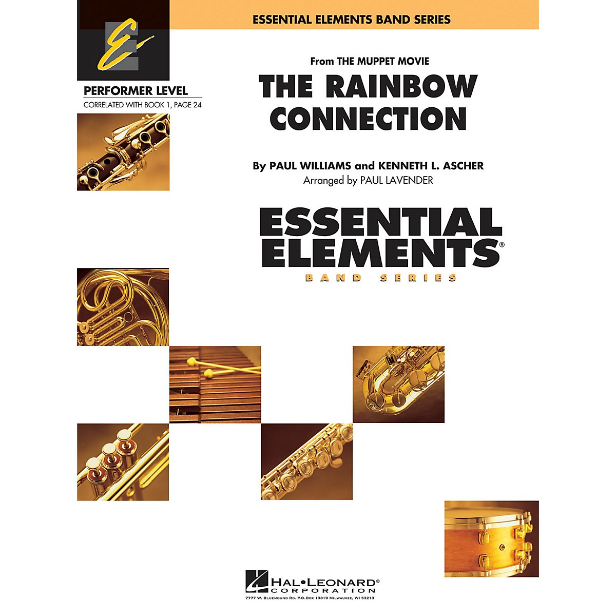 Hal Leonard Rainbow Connection Concert Band Level .5 to 1 Arranged by Paul Lavender