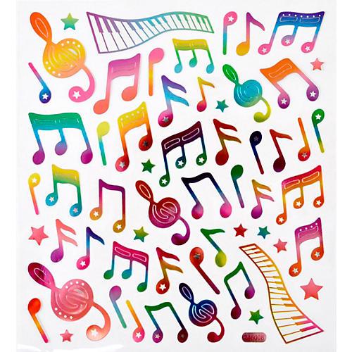 AIM Rainbow Musical Note Stickers