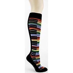 d31f52015 Foot Traffic Rainbow Piano Knee High Socks