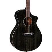 Rainforest S African Mahogany Concert Acoustic-Electric Guitar Black Gold