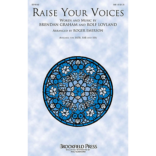 Brookfield Raise Your Voices SAB by Secret Garden arranged by Roger Emerson