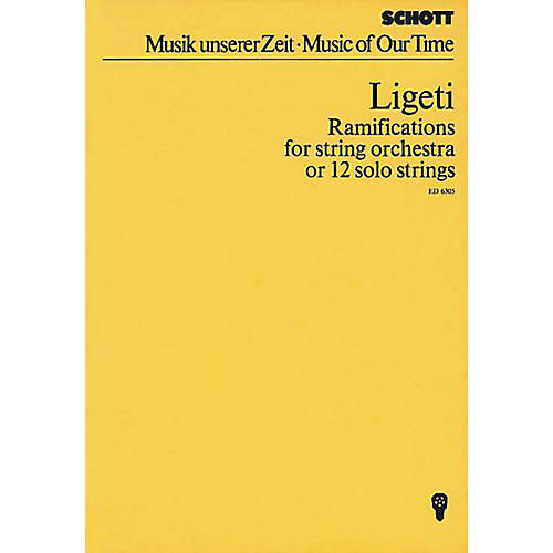 Schott Ramifications (Study Score) Schott Series Composed by György Ligeti