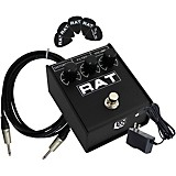 ProCo Rat2 Distortion Effects Pedal Bundle with Cable, Power Supply, Picks