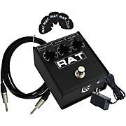 Rat2 Distortion Effects Pedal Bundle with Cable, Power Supply, Picks