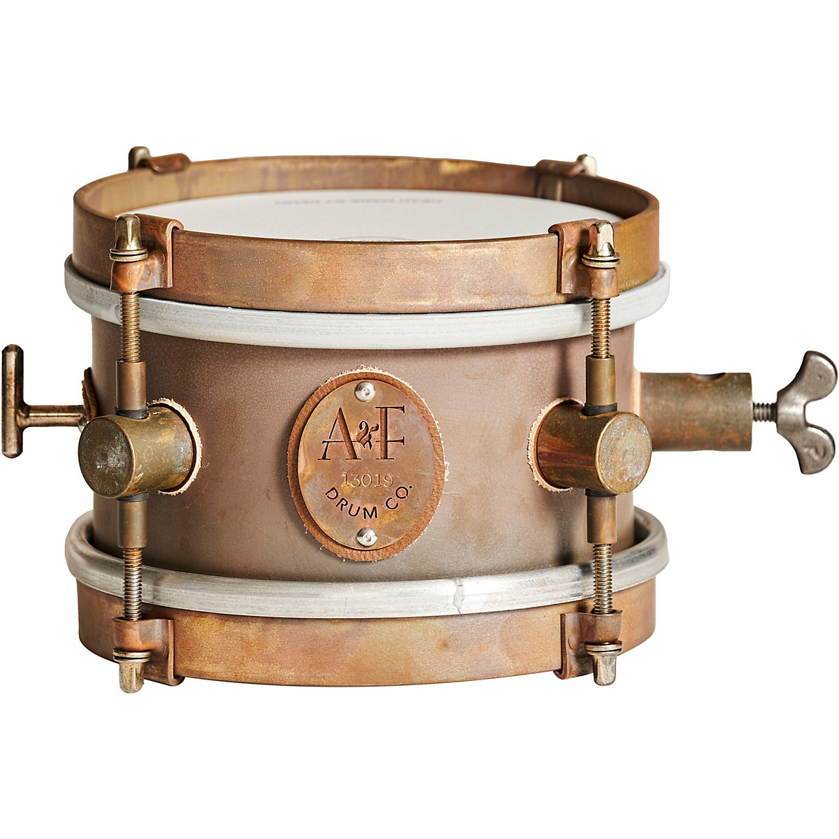 A&F Drum Co Raw Brass Snare
