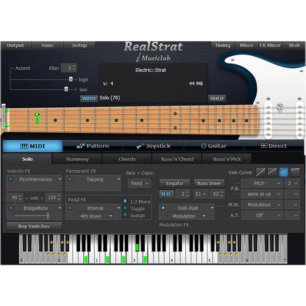 MusicLab RealStrat Virtual Guitar Software Download
