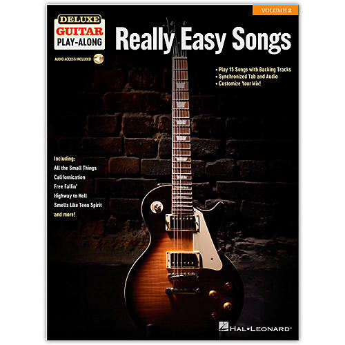 hal leonard really easy songs deluxe guitar play along volume 2 book audio online guitar center. Black Bedroom Furniture Sets. Home Design Ideas