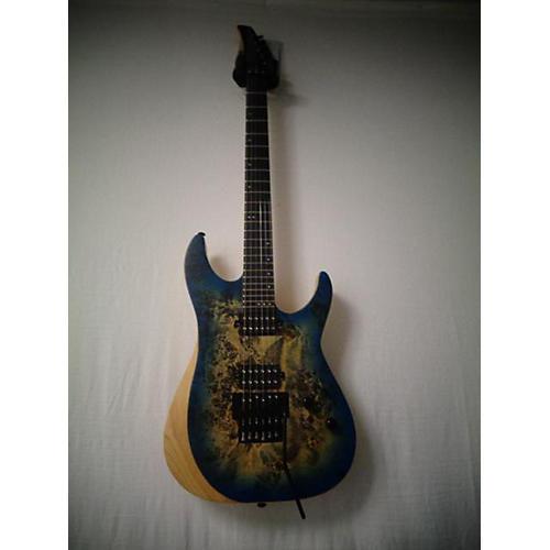 used schecter guitar research reaper 6fr solid body electric guitar blue burl burst guitar center. Black Bedroom Furniture Sets. Home Design Ideas