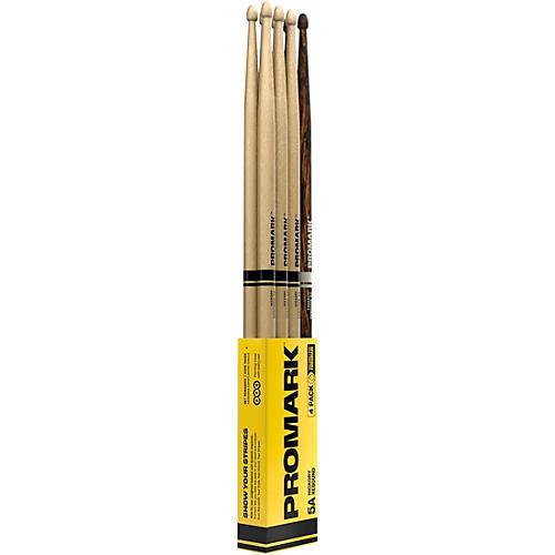 Promark Rebound Hickory Acorn Tip 3+1 FireGrain Drum Sticks 4-Pack