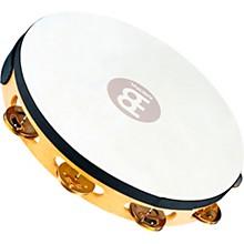 Meinl Recording-Combo Goat-Skin Wood Tambourine One Row Dual Alloy Jingles