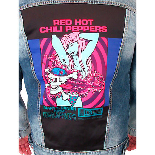 Dragonfly Clothing Red Hot Chili Peppers - Bikini Girl - Mens Denim Jacket
