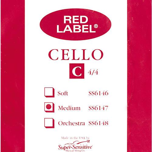 Super Sensitive Red Label Series Cello Strings