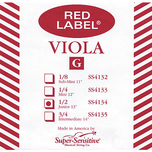Super Sensitive Red Label Viola G String
