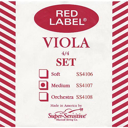 Super Sensitive Red Label Viola String Set