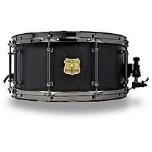 OUTLAW DRUMS Red Oak Stave Snare Drum with Black Chrome Hardware 14 x 6.5 in. Black Satin