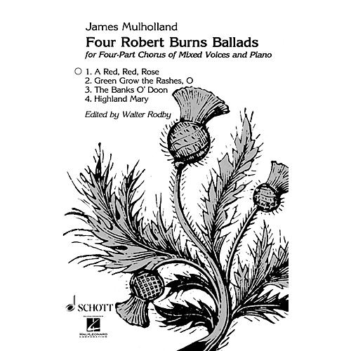 Schott Red Red Rose SATB Composed by James Mulholland