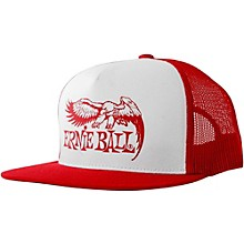 Ernie Ball Red & White Trucker Cap with Ernie Ball Eagle