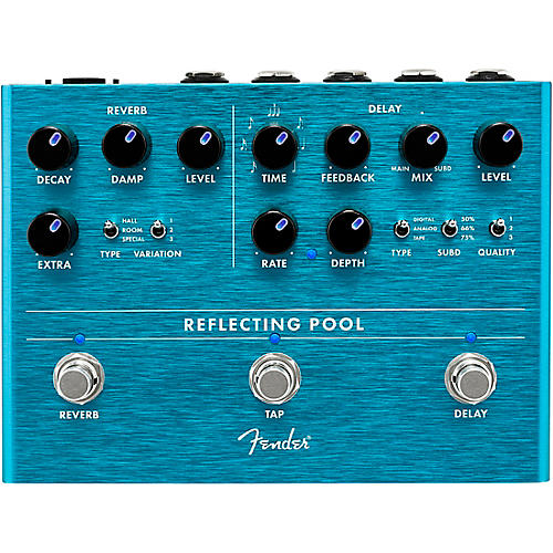 Fender Reflecting Pool Delay & Reverb Effects Pedal