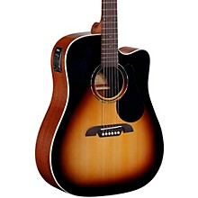 Regent Series Dreadnought Cutaway Acoustic-Electric Guitar Sunburst
