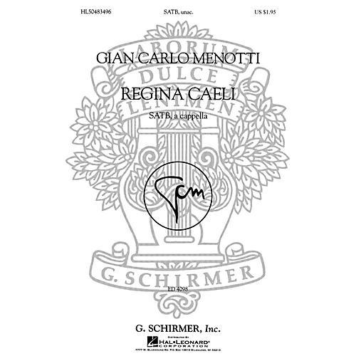 G. Schirmer Regina Caeli (SSAATTBB a cappella) SSAATTBB A Cappella composed by Gian-Carlo Menotti