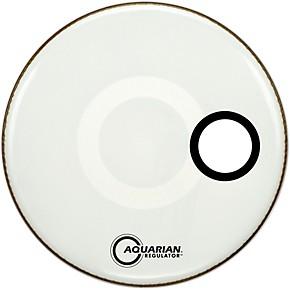 aquarian regulator off set hole gloss white bass drum head guitar center. Black Bedroom Furniture Sets. Home Design Ideas