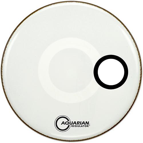 Aquarian Regulator Off-Set Hole Gloss White Bass Drum Head