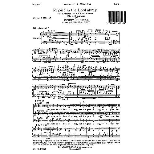Novello Rejoice in the Lord Alway (Abridged) SATB