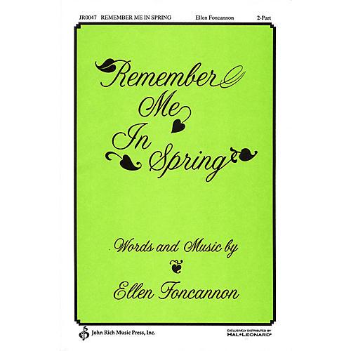 Pavane Remember Me in Spring 2-Part composed by Ellen Foncannon