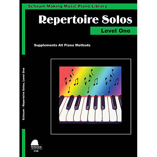 SCHAUM Repertoire Solos Level 1 Educational Piano Book by Wesley Schaum (Level Elem)