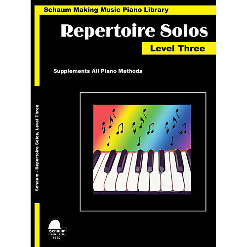 SCHAUM Repertoire Solos Level 3 Educational Piano Book by Wesley Schaum (Level Early Inter)