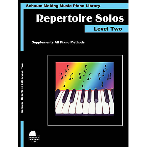 SCHAUM Repertoire Solos Level Two Educational Piano Book by Wesley Schaum (Level Late Elem)
