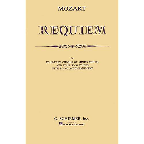 G. Schirmer Requiem (SATB) SATB composed by Wolfgang Amadeus Mozart