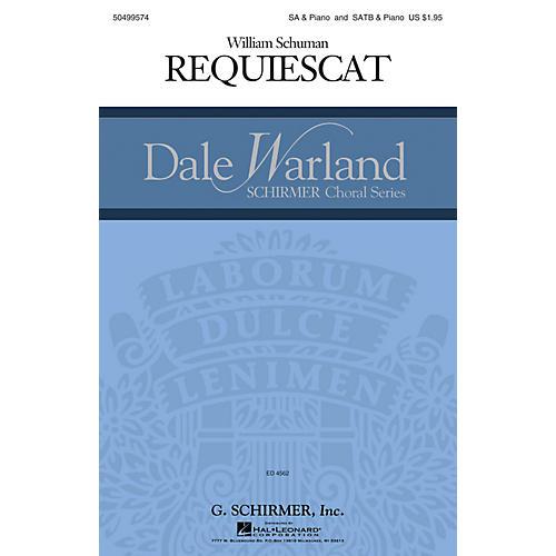 G. Schirmer Requiescat (Dale Warland Choral Series) SSAA composed by William Schuman