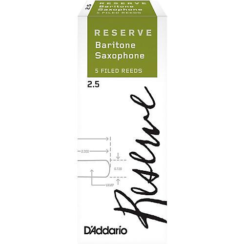 D'Addario Woodwinds Reserve Baritone Saxophone Reeds, 5-Pack