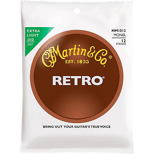 Martin Retro Acoustic 12 String Guitar Set Extra Light Gauge