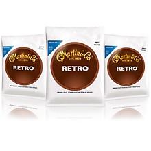 Martin Retro Acoustic Guitar Strings Medium Gauge 3-Pack