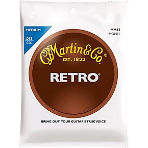 martin retro acoustic guitar strings medium gauge guitar center. Black Bedroom Furniture Sets. Home Design Ideas