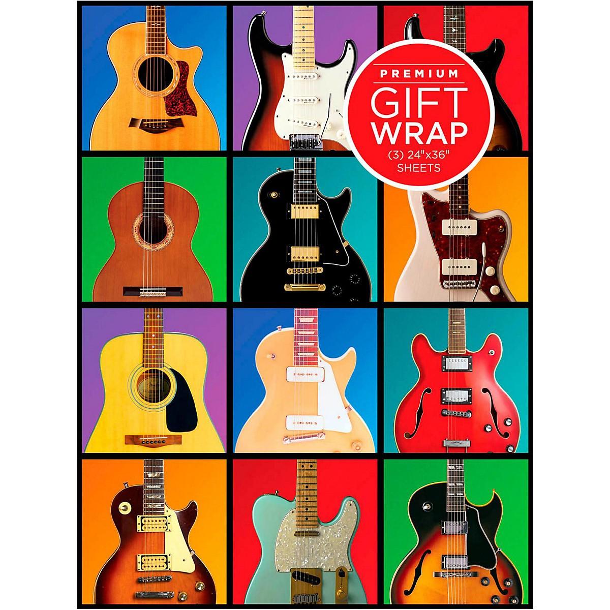 Hal Leonard Retro Guitar Wrapping Paper