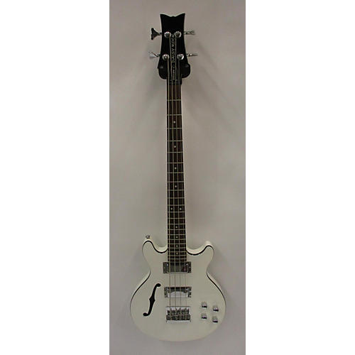 used daisy rock retro h electric bass guitar metallic white guitar center. Black Bedroom Furniture Sets. Home Design Ideas